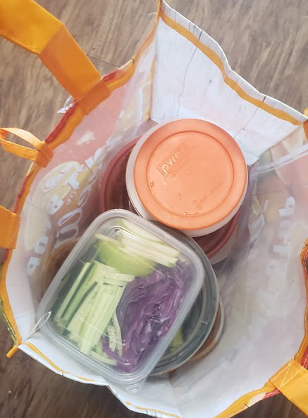 cold buckwheat noodles in a bag for travel